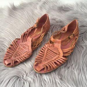 Vintage Toetitos brown tan leather sandals 8